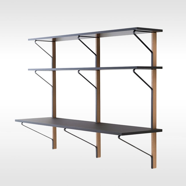 Artek wandkast / bureau REB 010 Kaari Wall Shelf with Desk door Ronan & Erwan Bouroullec
