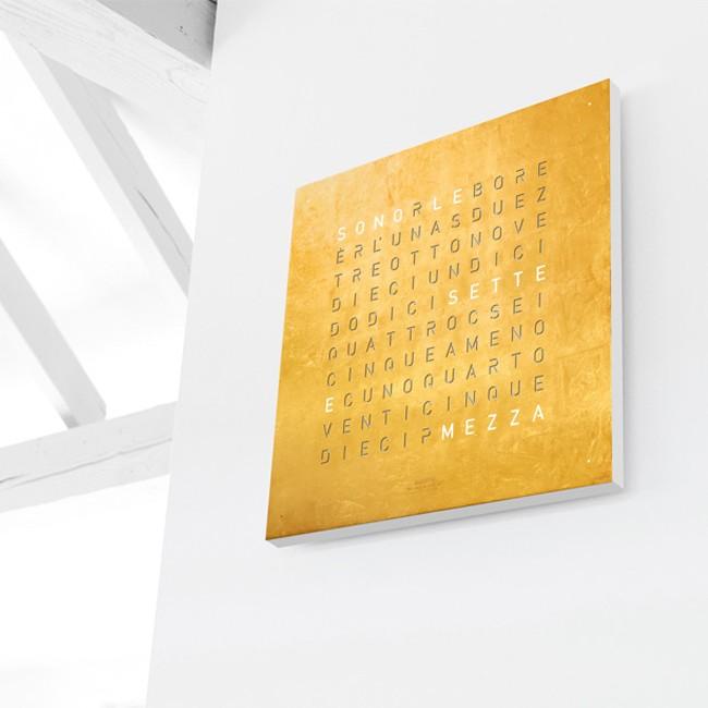 biegert funk wandklok qlocktwo large gold door biegert funk. Black Bedroom Furniture Sets. Home Design Ideas