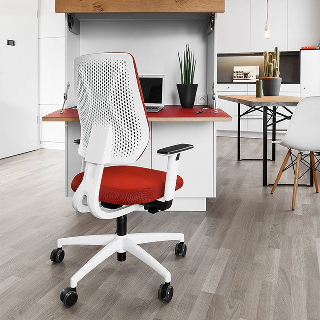 Dauphin Trendoffice bureaustoel Speed-O Netweave SP76295 White door Gorgi Design