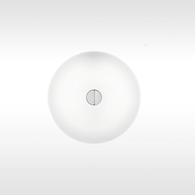 Flos wandlamp / plafondlamp Mini Button door Piero Lissoni