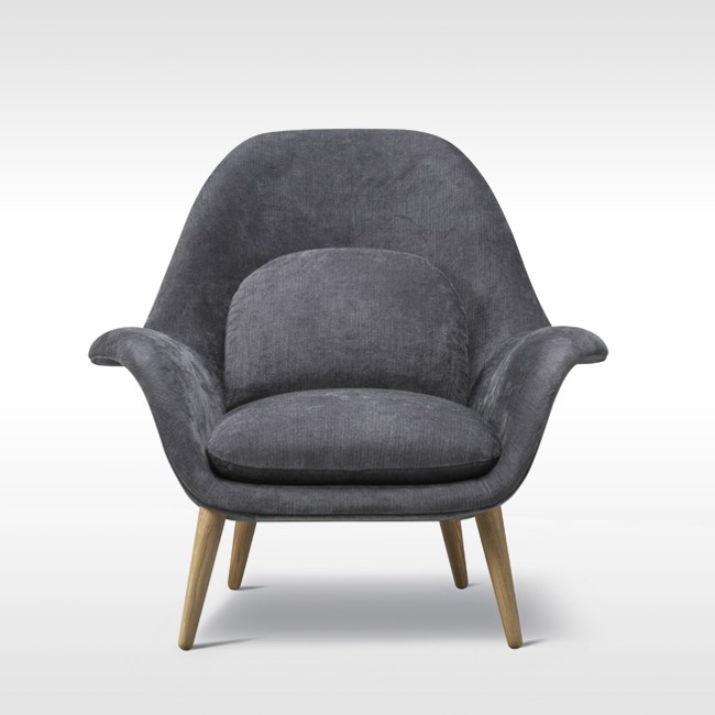 Fredericia fauteuil Swoon Lounge Chair Model 1770 door Space Copenhagen