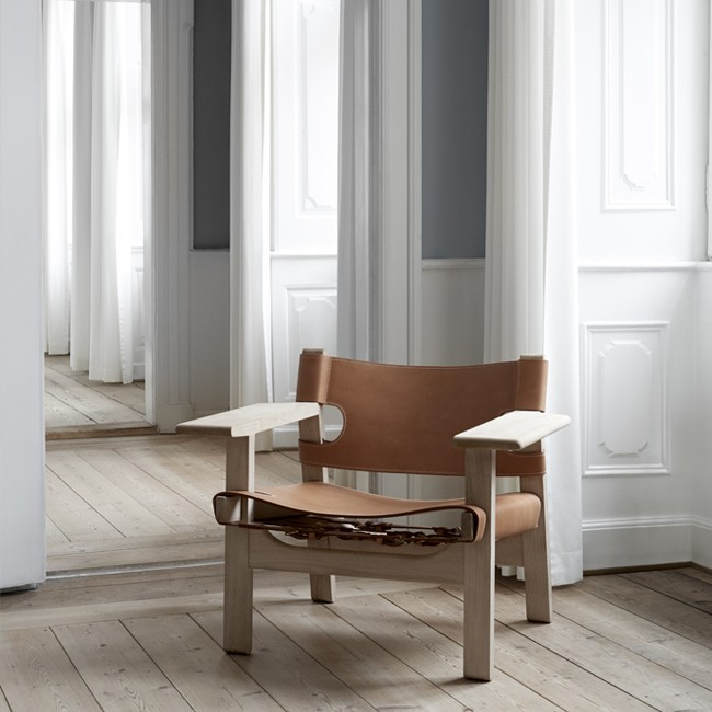 Fredericia fauteuil The Spanish Chair Model 2226 door Børge Mogensen