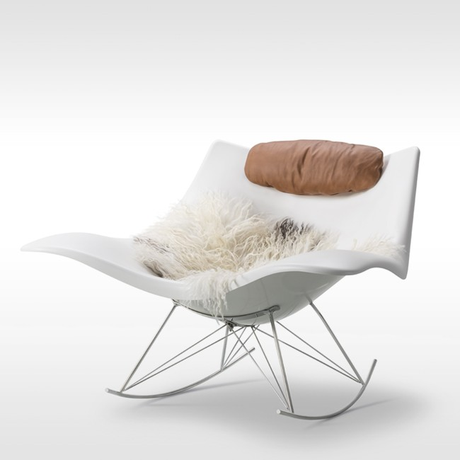 Fredericia schommelstoel Stingray Rocking Chair Model 3500 door Thomas Pedersen