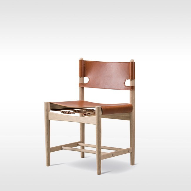 Fredericia stoel The Spanish Dining Chair Model 3237 door Børge Mogensen