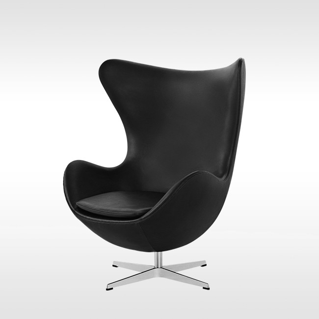 Fritz Hansen loungestoel Egg Lounge Chair Model 3316 Leder door Arne Jacobsen