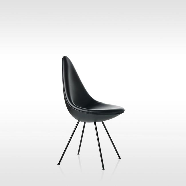 Fritz Hansen Stoel.Fritz Hansen Stoel Drop Model 3110 Leder Door Arne Jacobsen
