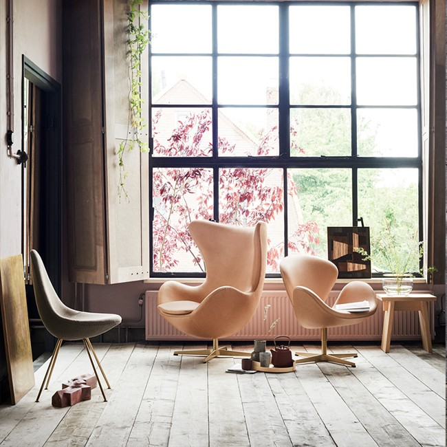 Fritz Hansen Design Stoelen.Fritz Hansen Stoel Drop Model 3110 Textiel Door Arne Jacobsen