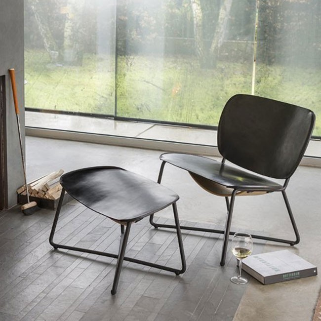 Functionals fauteuil Miller naturel leer door Serener