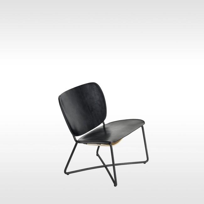 Zwarte Design Fauteuil.Functionals Fauteuil Miller Zwart Leer Door Serener