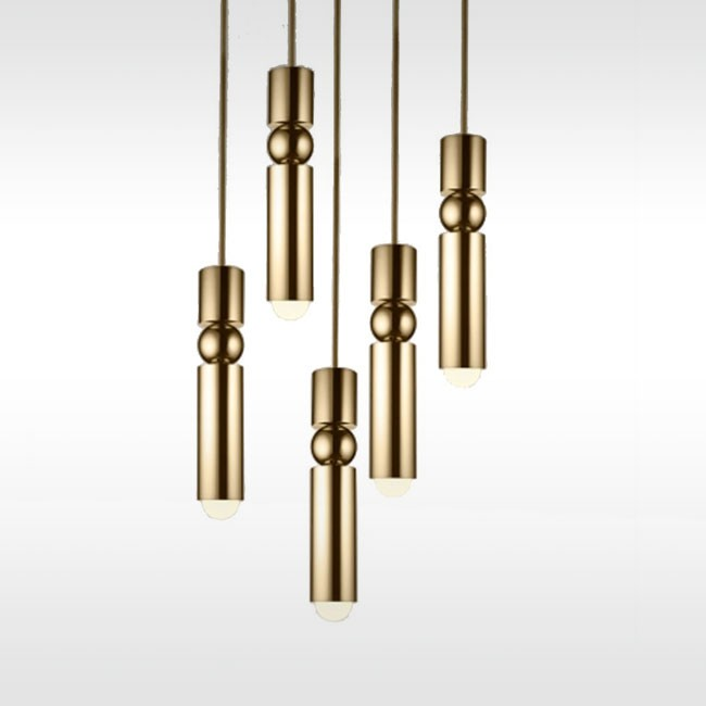 Lee Broom hanglamp Fulcrum Light Chandelier messing door Lee Broom