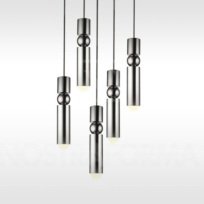 Lee Broom hanglamp Fulcrum Light Chandelier chrome door Lee Broom