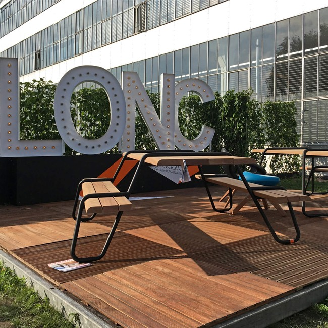 Lonc bank Clip-Board 220 Bench Outdoor door Rogier Waaijer