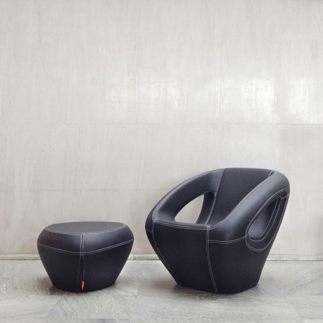 Lonc fauteuil Seaser Leather door Rogier Waaijer