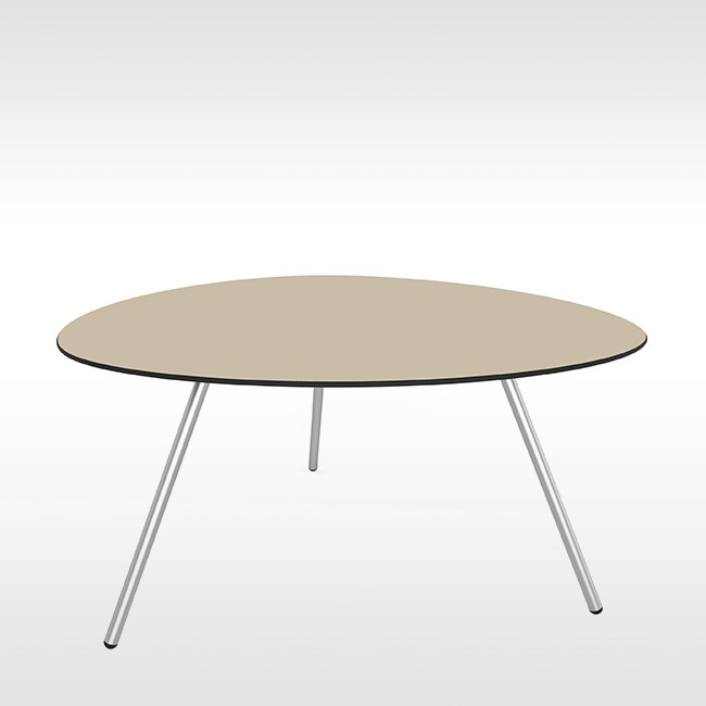 Lonc tafel Big Dine a-Lowha Table (RVS onderstel) door Rogier Waaijer