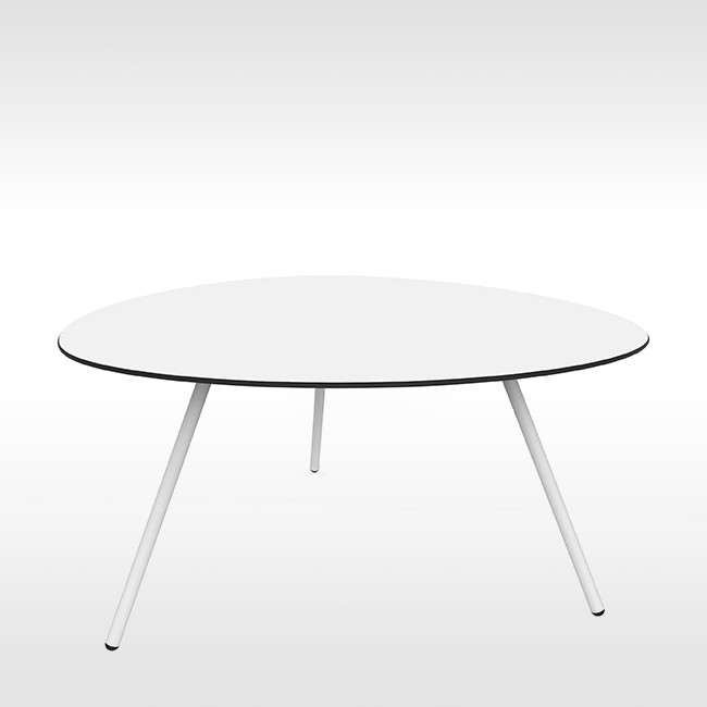 Lonc tafel Big Dine a-Lowha Table (wit onderstel) door Rogier Waaijer