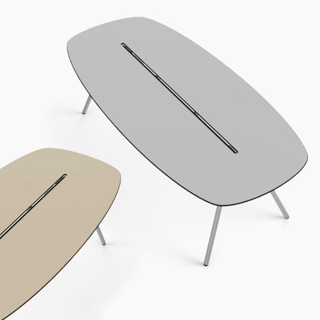 Lonc tafel Long Board a-Lowha Table (wit onderstel) door Rogier Waaijer