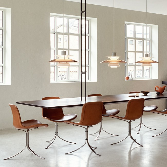 Louis Poulsen hanglamp PH 5 Copper door Poul Henningsen
