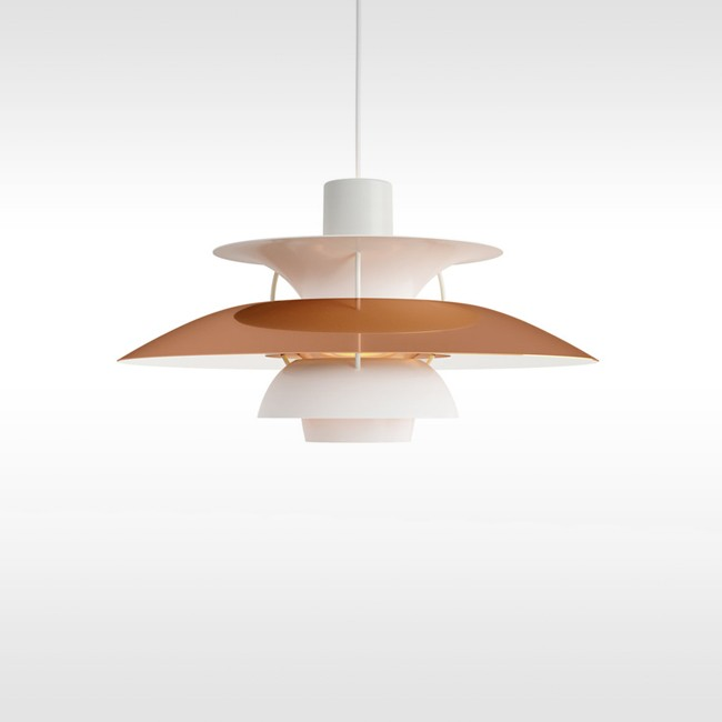 Louis Poulsen hanglamp PH 5 Mini Copper door Poul Henningsen