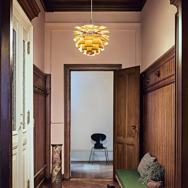 Louis Poulsen hanglamp PH Artichoke Messing door Poul Henningsen