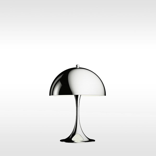 Louis Poulsen tafellamp Panthella Mini Table Chrome door Verner Panton
