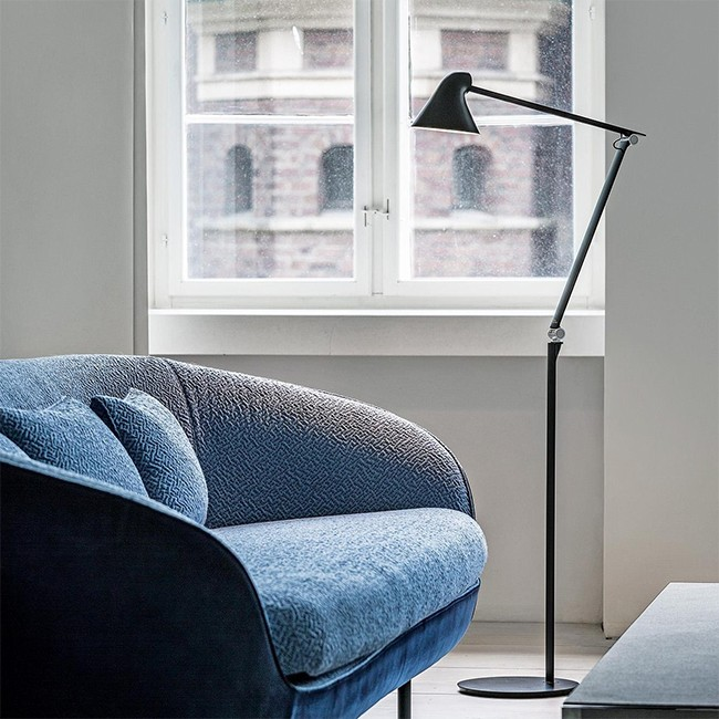 Louis Poulsen vloerlamp NJP Floor Dark Grey door Nendo