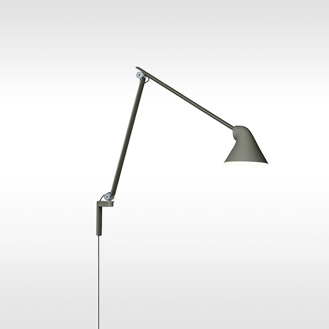 Louis Poulsen wandlamp NJP Wall Long Dark Grey door Nendo