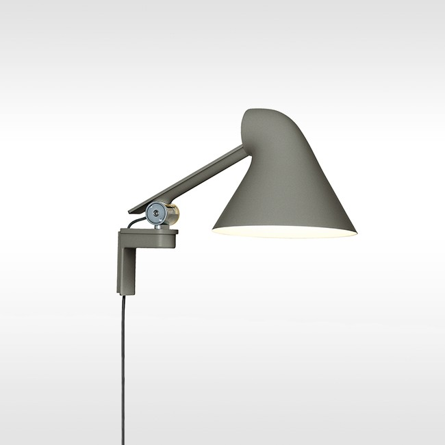 Louis Poulsen wandlamp NJP Wall Short Dark Grey door Nendo