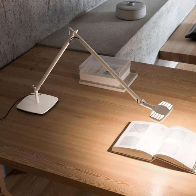 Luceplan bureaulamp D72N1 Otto Watt Table White door Alberto Meda