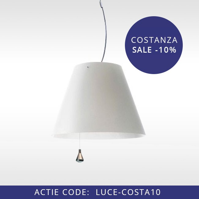 Luceplan hanglamp D13E sas Lady Costanza Up & Down door Paolo Rizzatto