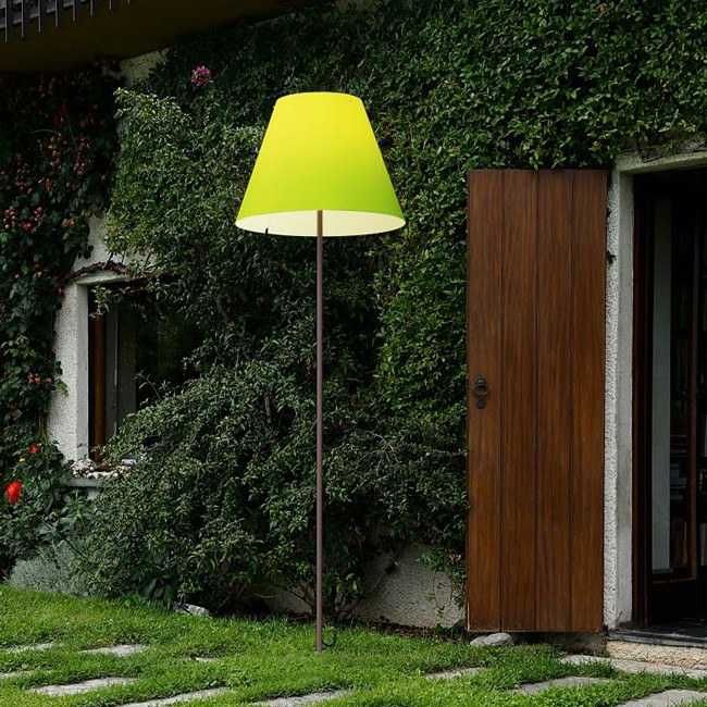 Luceplan staande buitenlamp D13G.air Grande Costanza Open Air aluminium door Paolo Rizzatto