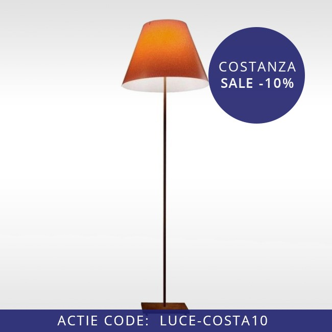 Luceplan staande buitenlamp D13G.air Grande Costanza Open Air roest door Paolo Rizzatto