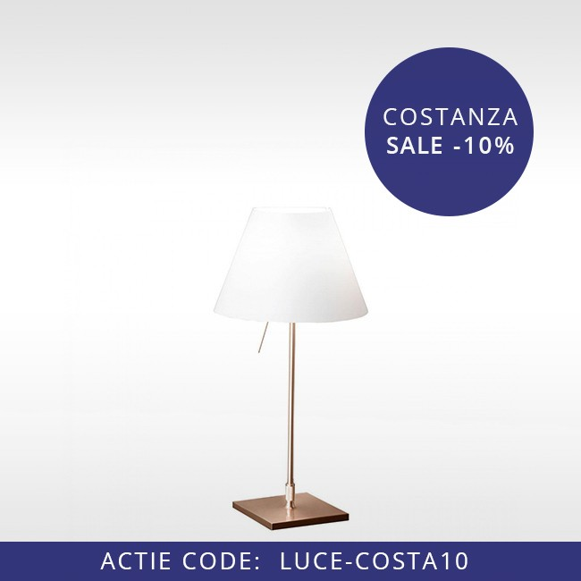 Luceplan tafellamp D13 pi.c LED Costanzina Brass door Paolo Rizzatto