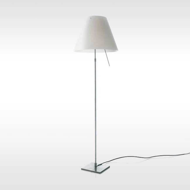 Luceplan vloerlamp D13t L Costanza LED telescopisch door Paolo Rizzatto