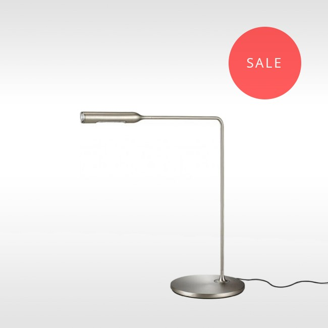 Lumina bureaulamp Flo Desk Nikkel door Foster+Partners