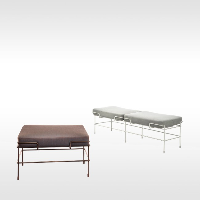 Magis bank Traffic Bench SD2730 & SD2740 (stof) door Konstantin Grcic