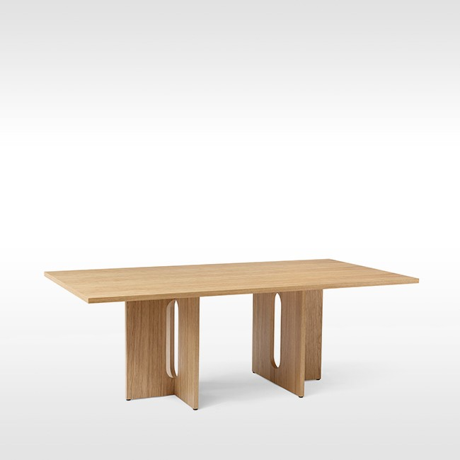 Menu tafel Androgyne Dining Table Rectangular 210 door Danielle Siggerud