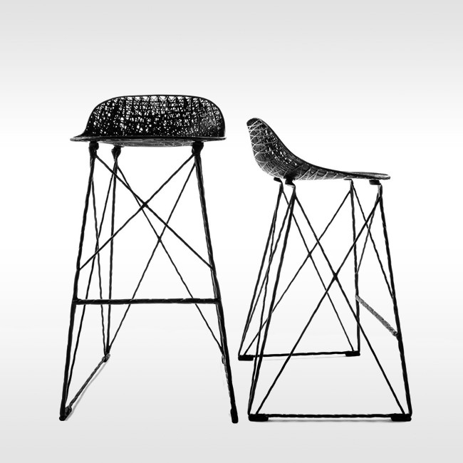 Moooi barkruk Carbon Bar Stool hoog door Bertjan Pot & Marcel Wanders