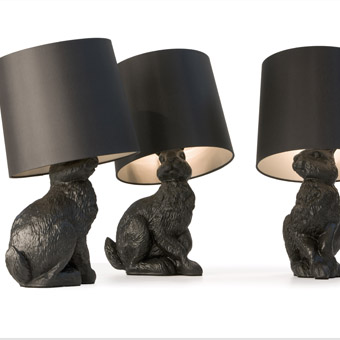 Moooi tafellamp Rabbit Lamp door Front