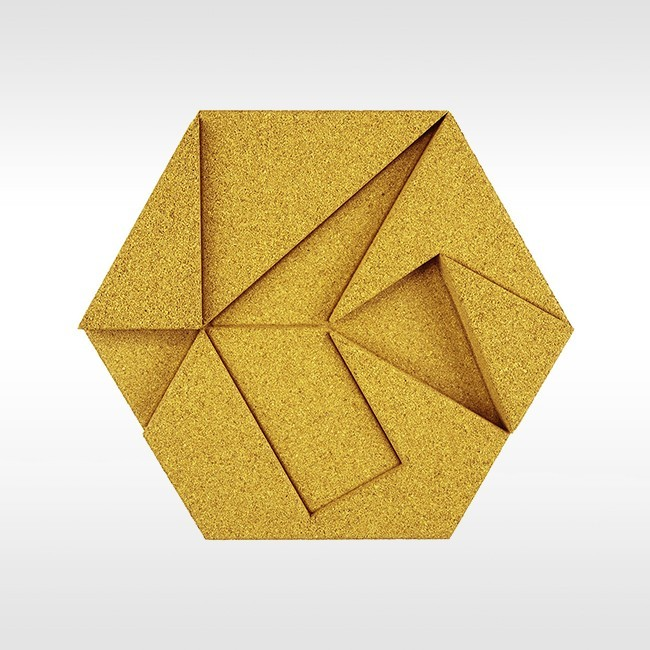 Muratto akoestisch wandpaneelsysteem Organic Blocks Hexagon door Yolanda Murillo