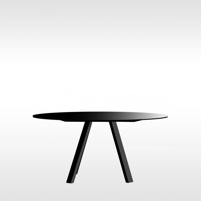 Pedrali tafel Arki Table Round Black door Pedrali R&D