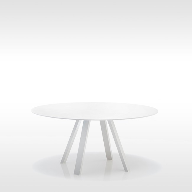 Pedrali tafel Arki Table Round White door Pedrali R&D