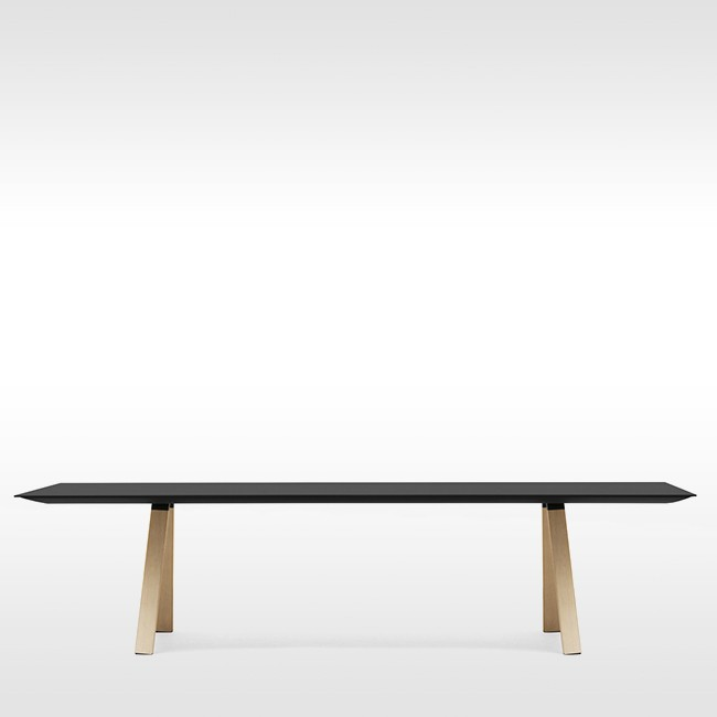 Pedrali tafel Arki Table Wood Black van Pedrali R&D