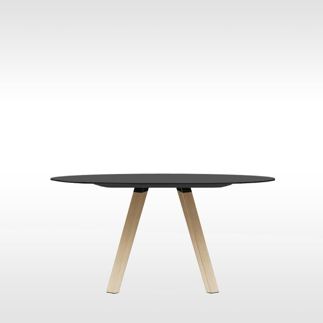 Pedrali tafel Arki Table Wood Round Black door Pedrali R&D