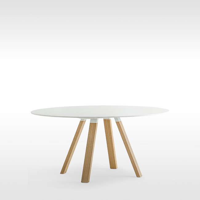 Pedrali tafel Arki Table Wood Round White door Pedrali R&D