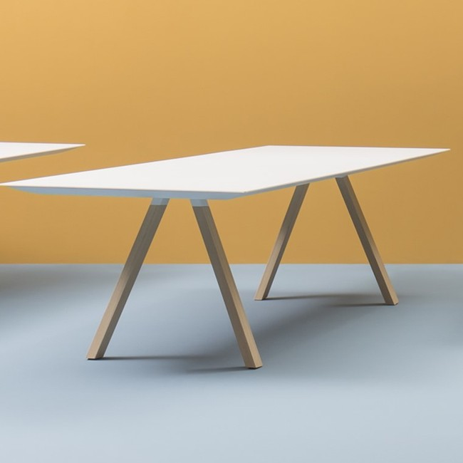 Pedrali tafel Arki Table Wood White van Pedrali R&D