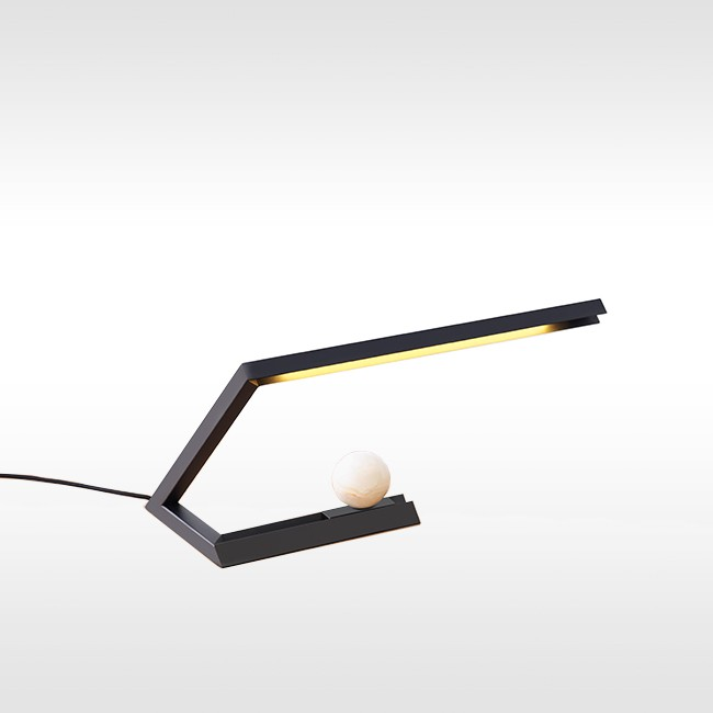 Resident bureaulamp Oud Table Light Black door Nat Cheshire