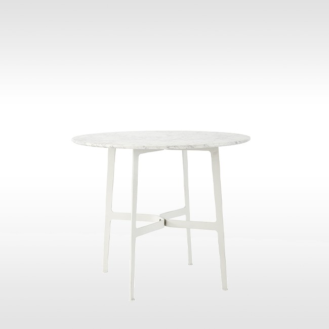 SP01 tafel Eileen Circular Table wit marmer door Tom Fereday