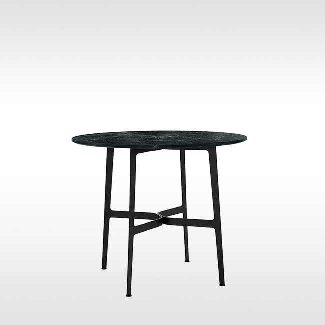 SP01 tafel Eileen Circular Table zwart marmer door Tom Fereday