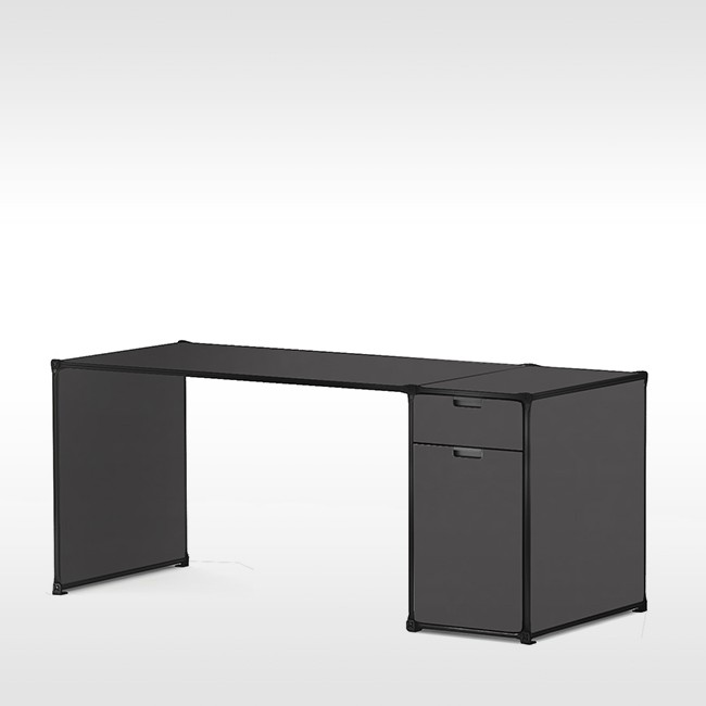 System 180 bureau Desk 40072 BlackLine door System 180