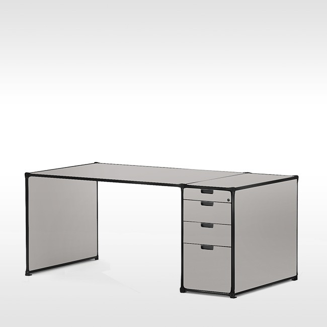 System 180 bureau Desk 40073 BlackLine door System 180